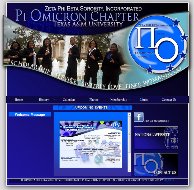 Zeta Phi Beta the Pi Omicron Chapter Website